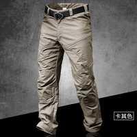 Pantalones tácticos ajustados de secado rápido impermeable al aire libre para entrenamiento de primavera y otoño para escalada pantalones de carga largos transpirables
