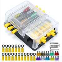 6 manera DC32V 100A fusible bloques terminales de tornillo con 12 p negativo barras, fusibles y conectores aislados