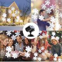Navidad proyector luces de ola de océano de copo de nieve impermeable al aire libre del proyector láser de la fiesta de año nuevo decoración de jardín 12 diapositivas