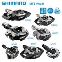 Original PD-M520 M530 M540 M8000 M8020 M9000 M9020 automáticos SPD pedales MTB bicicleta de montaña bici partes