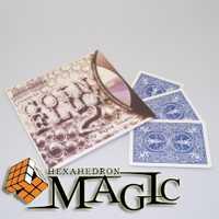Moneda flux 2.0 por Wayne Dobson y JB magia/calle de cerca tarjeta profesional productos trucos de magia/ envío libre