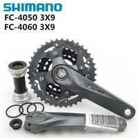Shimano FC M4050 T4060 Alivio 3x9 s velocidad MTB bicicleta bielas 170mm Incluye BB52