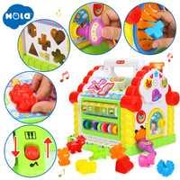 Enfants Fun arbre maison activité Cube jouet apprentissage chalet avec musique et lumières et jeux d'apprentissage et forme animale Cubes jouet éducatif