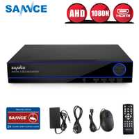 SANNCE 16CH completo 720 p AHD CVI seguridad DVR HDMI 1080N híbrido CCTV NVR HVR Video Recorder 16 canal para inicio sistema de vigilancia