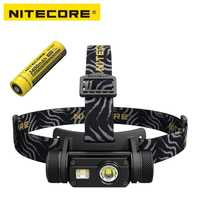 Nitecore HC65 LED lampe de Poche Cree XM-L2 U2 + CRI + ROUGE LED 1000lm USB Rechargeable Phare avec 1 pc 3400 mah 18650 Batterie