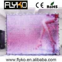 Envío libre P50mm matriz LED RGB DJ partido jardín estrella pantalla cortina