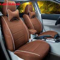 Cartailor automóvil Asientos para Lexus LS cinturón cubierta de lino paño Fundas de asientos para coche y soporte Accesorios de interior