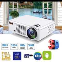 1080 p HD 5000 lúmenes 3D LED proyector Home Theater Cinema Multimedia AV USB con mando a distancia para cine en casa TV portátil Gam