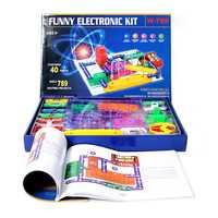 789 proyectos educativos inteligentes electrónica Discovery Kit, gran Diy bloques de construcción divertido circuitos eléctricos Kits para niños
