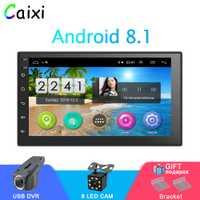La Radio del coche Android 8,1 2Din Universal del coche de la navegación del GPS de Audio estéreo de coche Multimedia MP5 jugador para Nissan Hyund toyota KIA