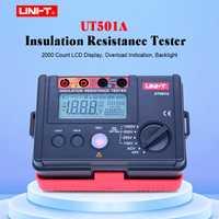 Medidor probador de resistencia de aislamiento UNI-T UT501A Megger medidor de voltaje de resistencia a tierra