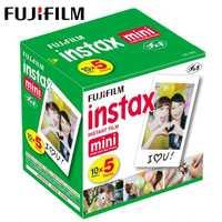 Original Fuji Fujifilm Instax Mini 9 película borde blanco foto papeles para Mini 8 7 s 7 90 25 55 compartir SP-1 cámara instantánea 50 hojas