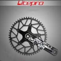Litepro borde hueco 170mm único camino bicicleta plato manivela 50 t 52 T 54 T 56 T 58 T con GXP BB 130BCD
