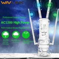 Routeur sans fil AP/wifi de répéteur sans fil extérieur AC1200 de puissance élevée de Wavlink 1200 Mbps double Dand 2.4G + 5 Ghz d'extension longue portée PoE