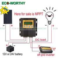 20A 12 V/24 V MPPT controlador de carga Solar regulador de batería 15-30% más de potencia dd