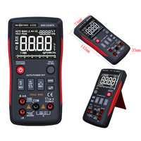 Multímetro Digital de verdadero analógico Bar gráfico 9999 cuenta Ciclo de amperímetro Ohm Auto de la gama de frecuencia de Tempture
