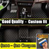 Custom Car alfombrillas de piso para Kia Sorento Sportage Optima K5 Forte Carens Soul 3D car-styling cuero antideslizante alfombra