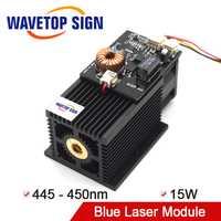 WaveTopSign de alta potencia de láser para 15 W 450nm Blu-ray DIY láser de corte de grabado 450nm azul módulo láser 15 W
