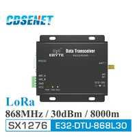 868 MHz LoRa SX1276 RS485 RS232 rf transceptor E32-DTU-868L30 CDSENET uhf módulo RF DTU inalámbrico transmisor receptor