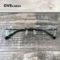 Prescripción gafas de marco de titanio gafas de montura de gafas de marco de los hombres gafas mujeres gafas ópticas luz ojo gafas