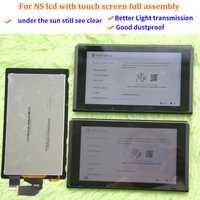 Original pour écran lcd de console NS + écran tactile remplacement de l'assemblage plein écran pour les accessoires de commutateur ntint