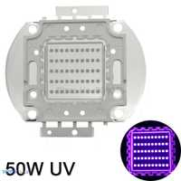 De alta potencia de 50 W UV Ultra violeta luz Chip 365nm-370NM... 380nm-385nm... 395nm-400nm... 420nm-425nm LED fuente de luz EPILEDs 42Mil