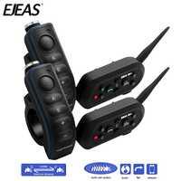 Par Ejeas E6 Plus BT motocicletas de la barra de la manija auriculares 6 corredores 1200 m comunicador casco Interphone VOX Bluetooth Intercom