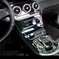 Estilo colorido plástico ABS Gear shift cubierta de ajuste para Mercedes Benz C GLC clase W205 C180L C200L C300 GLC260 15 -17 envío libre