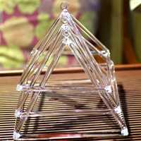 Pyramide chantante transparente Chakra 4