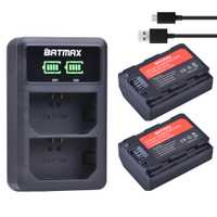 2 Pc 2280 mAh NP-FZ100 NPFZ100 NP FZ100 batterie + LED double chargeur USB pour Sony NP-FZ100, BC-QZ1, Sony a9, a7R III, a7 III, ILCE-9
