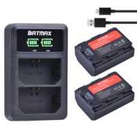 2 Unid 2280 mAh NP-FZ100 NPFZ100 NP FZ100 batería + LED cargador Dual USB para Sony NP-FZ100... BC-QZ1 Sony a9... a7R III a7 III ILCE-9