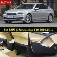 Almohadillas de coche delantero trasero asiento de la puerta anti-kick Mat Car-styling Accesorios para BMW serie 5 Sedan F10 528i 520i 523i 2010-2017