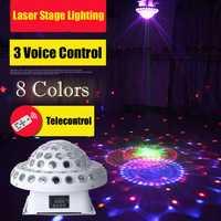 Luz del disco KTV Sound Control de color Lámpara LED etapa luz estroboscopio bar láser para discoteca DMX Proyector láser DJ Party iluminación