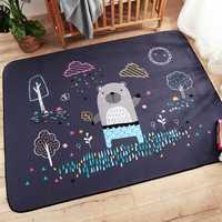 Infantile Brillant Bébé tapis de jeu puzzle pour enfants tapis avec motif de dessin animé En Daim Grand Tapis Salon Tapis Enfants Chambre Épaississent Couverture