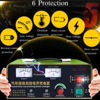 Cargador de batería de coche 220 V 12 V 50A 120 W nos enchufe automática completa 3-800AH inteligente pulso Reparación de corriente constante /tensión PWM