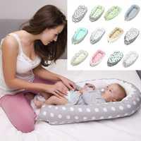 Bebé nido cama cuna portátil extraíble y lavable cuna cama de viaje para niños infantil de los niños de algodón cuna