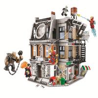 10840 Marvel vengadores infinito guerra Sanctum Sanctorum enfrentamiento de hierro hombre Spidermans juguetes de bloques de construcción Compatible Legoings