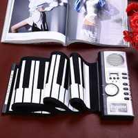 Portátil 61 teclas Roll-up teclado Flexible 61 teclas de silicona MIDI Digital suave teclado Flexible electrónico rollo piano