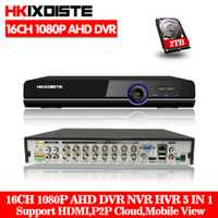 Vigilancia 16CH DVR HD AHD 1080 P 720 P seguridad CCTV DVR recorder HDMI 1080 P 16 canal independiente WIFI AHD 2MP DVR NVR