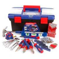 WORKPRO 170 Unid Home Tool Set reparación Kits de herramientas de mano llave alicates destornillador conjunto de herramientas de plástico conjunto