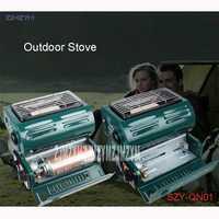 SZY-QN01 al aire libre único de la estufa de gas portátil para la calefacción y calefacción sólo piezoeléctricos de encendido electrónico de gas butano aplicable