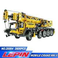 LEPIN 2606 20004 piezas unids de Motor técnico grúa móvil Mk II Kits de construcción modelo bloques de juguete regalo de Navidad 42009 legoed