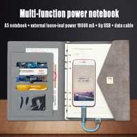 Nuevo cuaderno creativo papel A5 A6 multifunción Banco cargable Faux cuero cuaderno agenda diario planificador Chancery