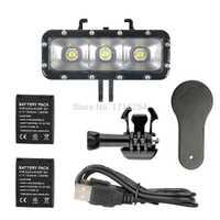 Accesorios Pro impermeable LED de video de buceo bajo el agua luz gopro + montaje de la hebilla de montaje para GoPro período de sesiones/Hero4/3 +/3/ /3/Xiaomi