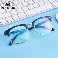 VEGOOS nuevo marco de gafas de prescripción oculos de grau Marco de gafas semi sin montura hombres montura de gafas marca miopía gafas #5043