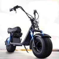 Adulto eléctrico de la motocicleta Citycoco Scooter bicicleta eléctrica 60V20A 1500 W doble de la batería de litio con dos ruedas