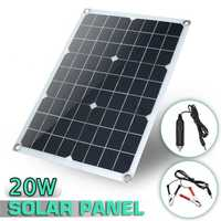 Sofirn 20 W 18 V batería impermeable del Panel Solar del USB a casa al aire libre RV cargador de coche USB + DC puerto carga de la batería
