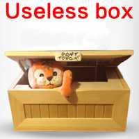 2016 moda Cartoon Tiger caja inútil adulto creativo regalos y juguetes prácticos Juguetes Divertidos para los amigos y los niños