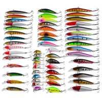 YINGTOUMAN 56 piezas 374,48G clásico cebo Artificial, Señuelos de Pesca para Wobblers señuelo de pesca Minnow Señuelos de Pesca de pesca luminosa