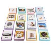 26 catégories 760 Cartes Enfants apprendre L'anglais carte de mots Anglais carte papier jouets éducatifs pour enfants pour L'apprentissage Précoce des enfants jouet